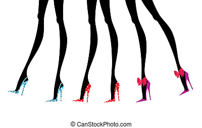 Fashion Legs in Colorful Shoes - Fashion Legs in Colorful...