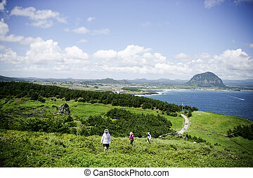 beautiful Jeju Island in South Korea,Songaksan