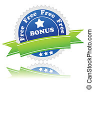 Bonus symbol located on a white background Vector...