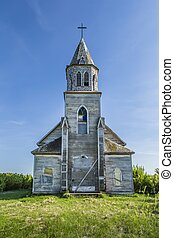 Old Weathered Church - The old weathered wood church...