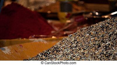 Indien, épices, Herbes, vente