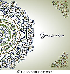 Vintage Background Traditional Ottoman motifs Vector...