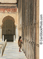 Amber Fort, Jaipur, India - Amber Fort - a historic site in...