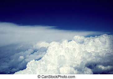 Puffy clouds with atmosphere - Puffy clouds with the...
