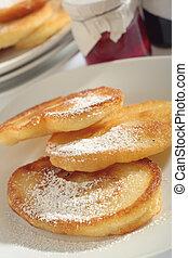 Polish doughnuts with sugar icing