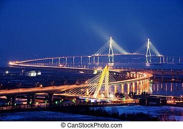 Beautiful bridge in South Korea,Incheonbridge