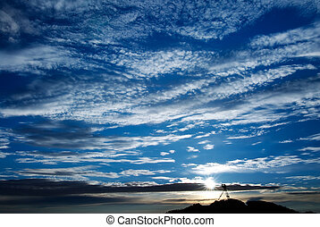 clouds and blue sky - Beautiful clouds filled blue sky.Take...