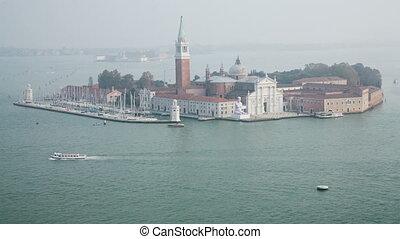 San Giorgio Maggiore island top view from San Marco...