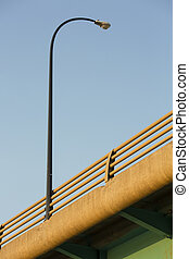 Light on Bridge - Details of a traffic light on a bridge