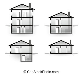 house profile as model for architecture of residential...