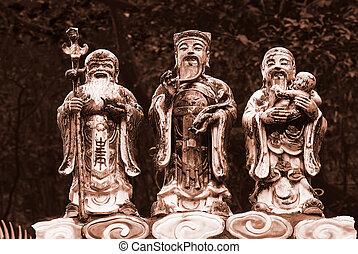 Tree Gods in Taiwan Temple