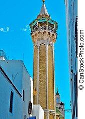 Mosque, minaret, Tunisia