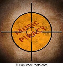 Music piracy target