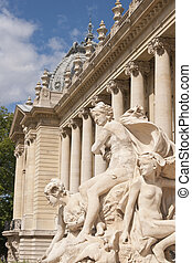 Petit Palace - Stone statue at the entrance to the Petit...