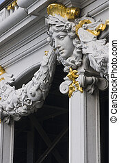 Ornate Bridge - Detail of statue on a historic bridge (Pont...