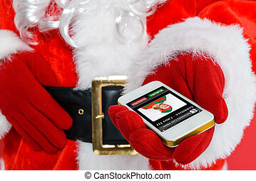 Santa getting a phonecall
