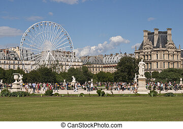 Summer in Paris - Jardin des Tuileries, Paris, France on a...