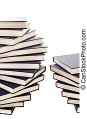 Piles of Blue Books - Piles of blue books with copy space on...