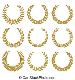 laurel wreaths 1 isolated on white backgrounds.