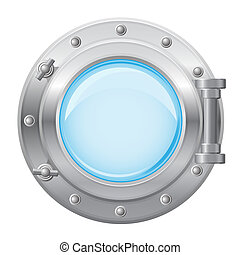 boat porthole illustration isolated on white background