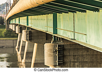 Bridge Details - The details of the steel trusses under a...