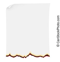 searing paper illustration isolated on white background