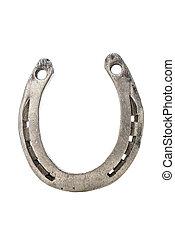 Horseshoe - Old metal horseshoe isolated on white background