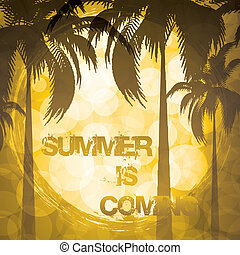 Summer holiday background - Golden tropical background