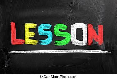 Lektion, begrepp