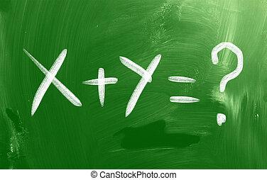 matemáticas, texto, concepto