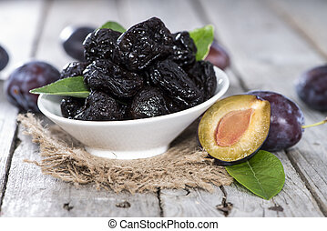 Fresh dried Plums - Heap of fresh dried Plums