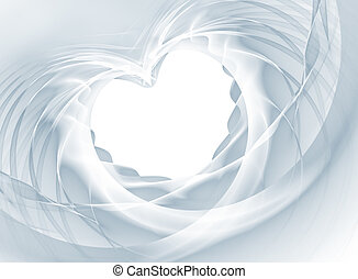 Veil Heart - Romantic heart shape from a white bridal veil....