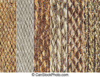 Rough camel wool fabric texture pattern collage.
