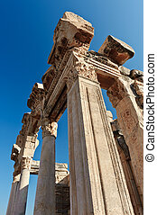 Ruins of ancient Ephesus - Old ruins of city building of...