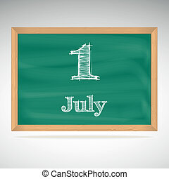 July 1, day calendar, school board, date - July 1,...