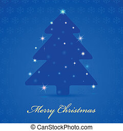 Merry Christmas vintage design greeting card
