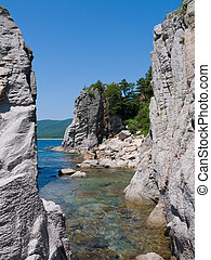 A landscape on rocky seacoast 5 - A landscape on roky...