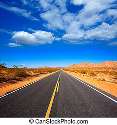 Mohave desert by Route 66 in California USA - Mohave desert...