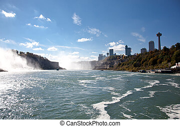 Niagara Falls View From Niagara River Gorge Canada
