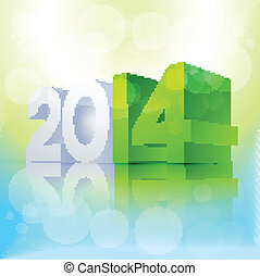 3d style new year