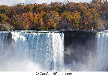 Niagara Falls Spray Autumn View Buffalo America USA