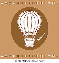 Balloon with a basket