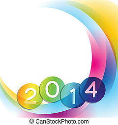colorful wave design - colorful wave style happy new year...