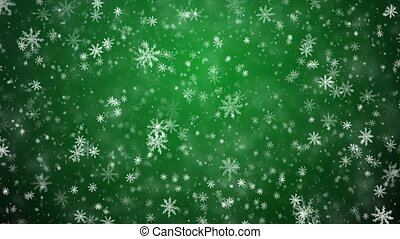 Winter Christmas background, falling snowflakes