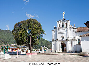 Zinacantan church, Chiapas, Mexico - The curch of...