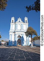 The Santa Lucia church in San Cristobal de las Casas,...