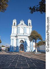 The Santa Lucia church in San Cristobal de las Casas,...