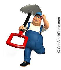 Mechanic with spade