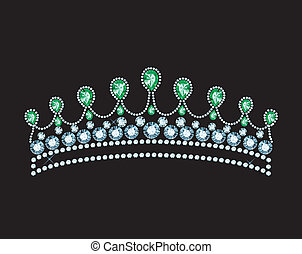 Crown - tiara decorated with jewels