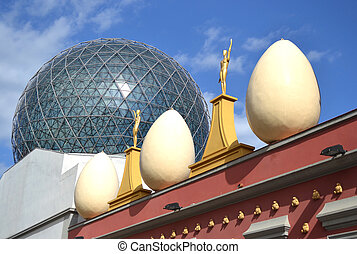 Salvador Dali museum in the center of the Catalan town of...